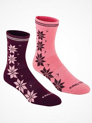 Strumpor - Kari Traa 2-pack Vinst Wool Sock Pink/Lilac