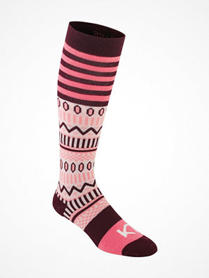 Kari Traa Åkle Sock Pink Pattern