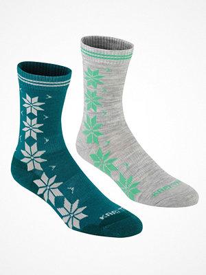 Strumpor - Kari Traa 2-pack Vinst Wool Sock Grey/Turquoise