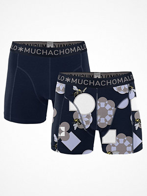 Muchachomalo 2-pack Cotton Modal Pollinate Boxer Blue Pattern