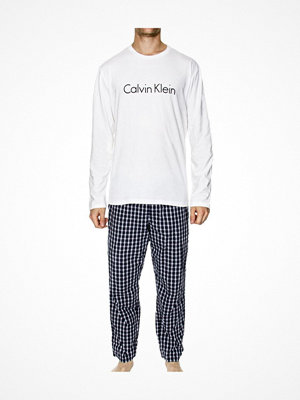 Calvin Klein Modern Cotton PJ Set White/Blue