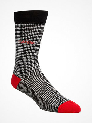 Calvin Klein Elroy Hounds Tooth Dress Crew Socks Black pattern-2