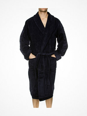Morgonrockar - Calvin Klein Men Terry Logo Robe Darkblue