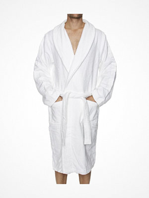 Morgonrockar - Calvin Klein Men Terry Logo Robe White