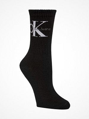 Calvin Klein Bowery Logo Short Crew Socks Black