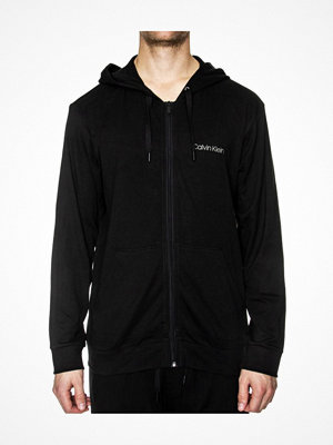 Calvin Klein Cotton Modal Lounge Full Zip Hoodie Black