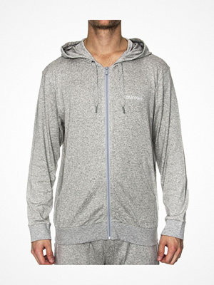 Calvin Klein Cotton Modal Lounge Full Zip Hoodie Grey