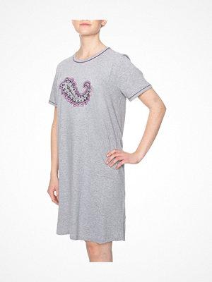 Damella Paisley Print Nightdress Grey