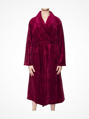 Morgonrockar - Damella Fleece Cable Robe Plum