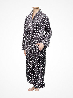 Morgonrockar - Damella Fleece Robe Print Grey