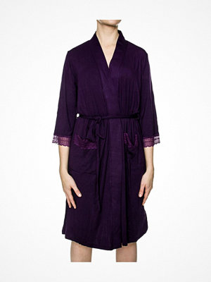 Morgonrockar - Damella Jersey Robe Deep purple