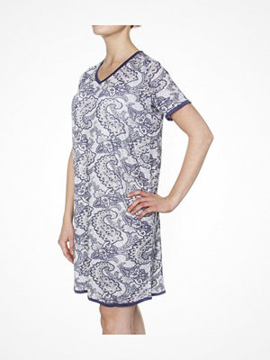 Damella Bamboo Paisley Nightdress Blue Pattern
