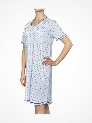 Damella Spots Nightdress Lightblue