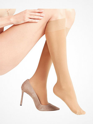 Falke Women Seidenglatt 40 Den Knee-High Socks Beige
