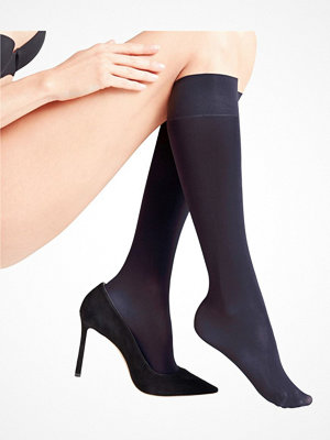 Falke Women Seidenglatt 40 Den Knee-High Socks Navy-2