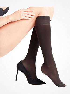 Falke Women Seidenglatt 40 Den Knee-High Socks Black