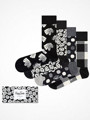 Happy Socks 4-pack Happy Socks Black and White Gift Box Multi-colour