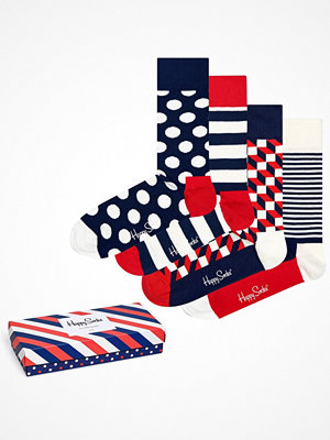 Happy Socks 4-pack Happy Socks Stripe Socks Gift Box Multi-colour