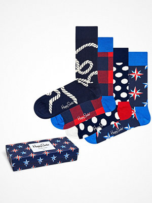 Happy Socks 4-pack Happy Socks Nautical Gift Box Multi-colour