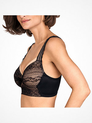 Miss Mary of Sweden Miss Mary Lace Vision Longline Underwired Bra Black