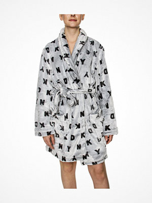 Morgonrockar - DKNY Signature Robe LS Folded Grey