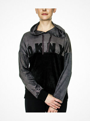 DKNY Modern Generation LS Top With Hood Black
