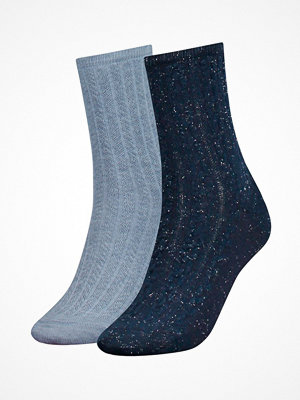 Tommy Hilfiger 2-pack Women Cord Sock Blue/Lightblue