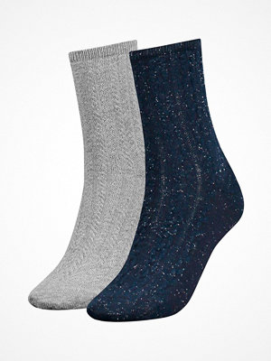 Tommy Hilfiger 2-pack Women Cord Sock Blue/Grey