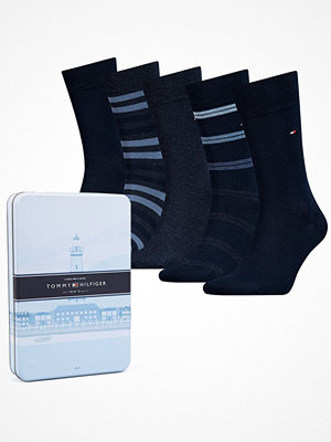 Tommy Hilfiger 5-pack Men Sock Duo Stripes Box Navy-2