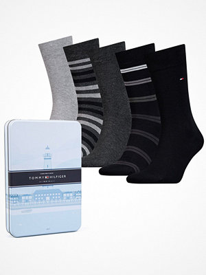 Tommy Hilfiger 5-pack Men Sock Duo Stripes Box Black