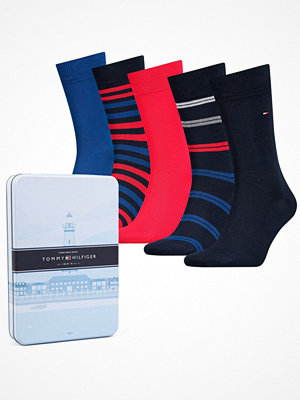 Tommy Hilfiger 5-pack Men Sock Duo Stripes Box Blue/Red