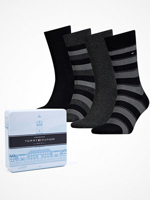 Tommy Hilfiger 4-pack Men Sock Stripe Box Black