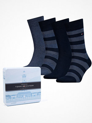 Tommy Hilfiger 4-pack Men Sock Stripe Box Navy-2