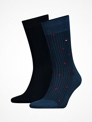 Tommy Hilfiger 2-pack Men Allover Pop Sock Darkblue