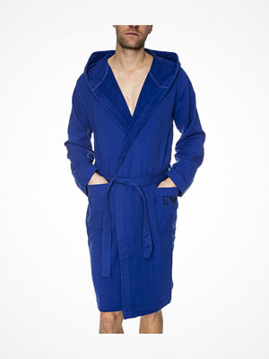 Armani Super Light Sponge Bathrobe Blue