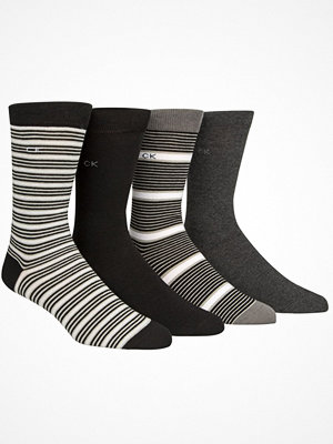 Calvin Klein 4-pack Kyler Striped Socks Gift Tin Black/Grey