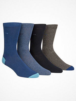 Calvin Klein 4-pack Freddie Bonus Heel Toe Sock Blue/Grey