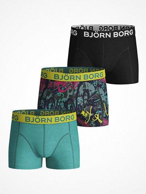 Björn Borg 3-pack Street Art Shorts For Boys Black/Green