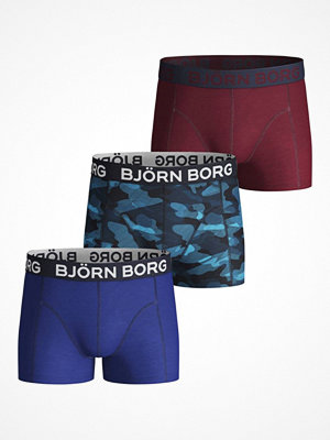 Björn Borg 3-pack Shadeline Total Eclipse Shorts For Boys Blue/Red