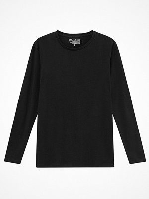 Bread and Boxers Long Sleeve Crew Neck Black