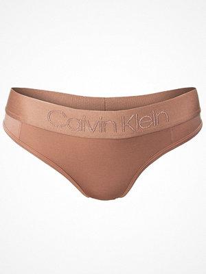 Calvin Klein Tonal Logo Thong Beige