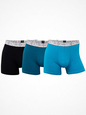 CR7 Cristiano Ronaldo 3-pack Men Trunks Black/Green