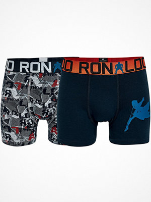 CR7 Cristiano Ronaldo 2-pack Boys Line Trunks Grey/Orange