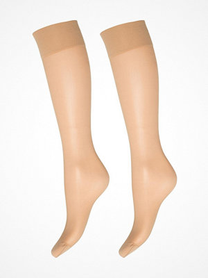 Strumpbyxor - Decoy 2-pack Deocy Silk Look 20d Kneehighs Sand