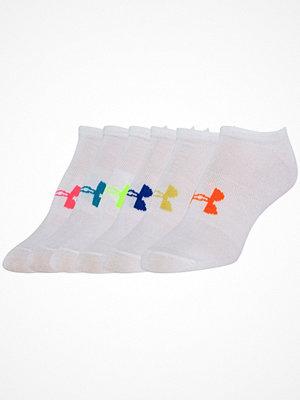 Strumpor - Under Armour 6-pack Solid No Show Socks White