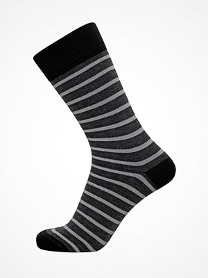 Claudio Mens Pattern Sock Greystriped