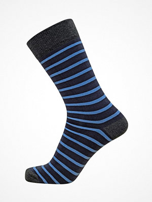 Claudio Mens Pattern Sock Blue Striped