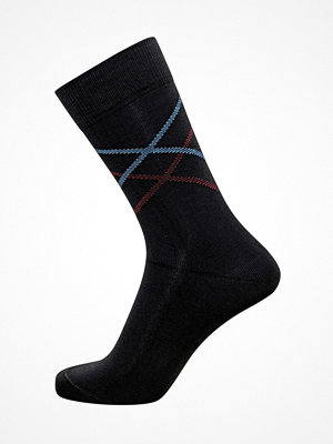 Claudio Mens Pattern Sock Black/Red