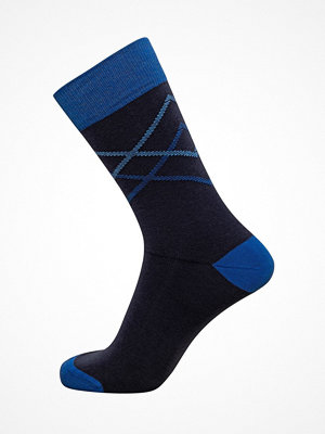 Claudio Mens Pattern Sock Navy/Blue