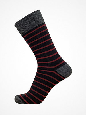 Claudio Mens Pattern Sock Red striped